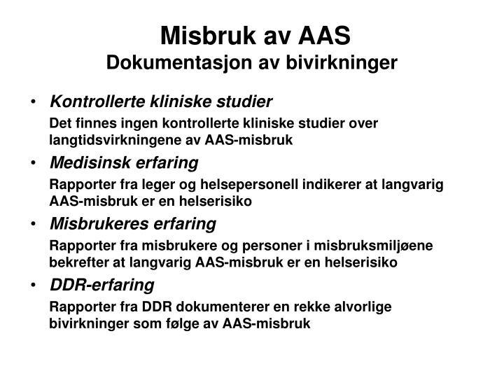 Misbruk av AAS