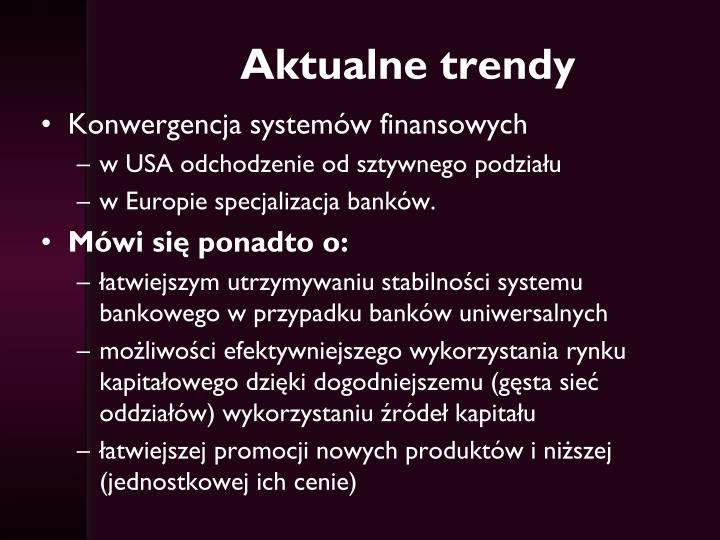 Aktualne trendy