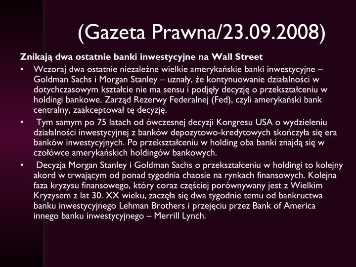 (Gazeta Prawna/23.09.2008)