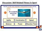 discussion skill related fitness in sport