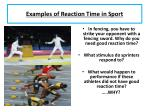 examples of reaction time in sport