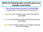 watch the following video and write down your example in your books