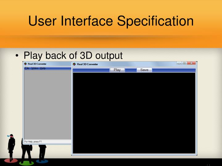 User Interface Specification