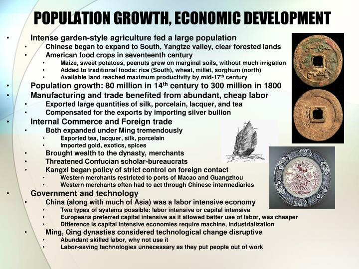 POPULATION GROWTH, ECONOMIC DEVELOPMENT