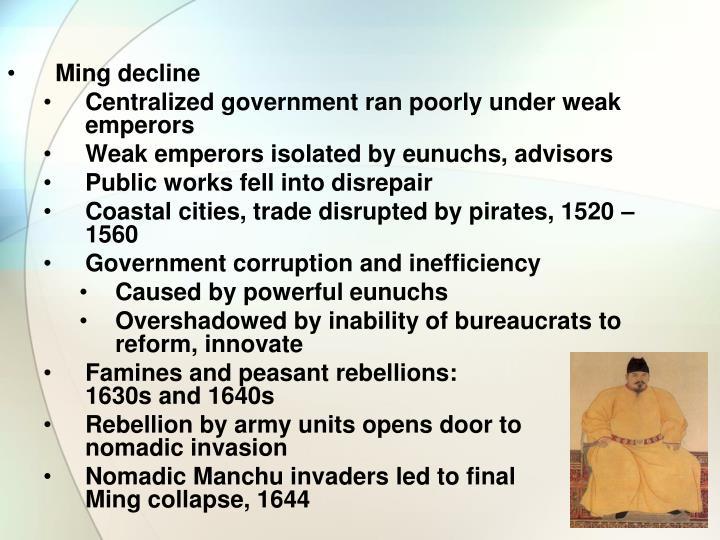 Ming decline