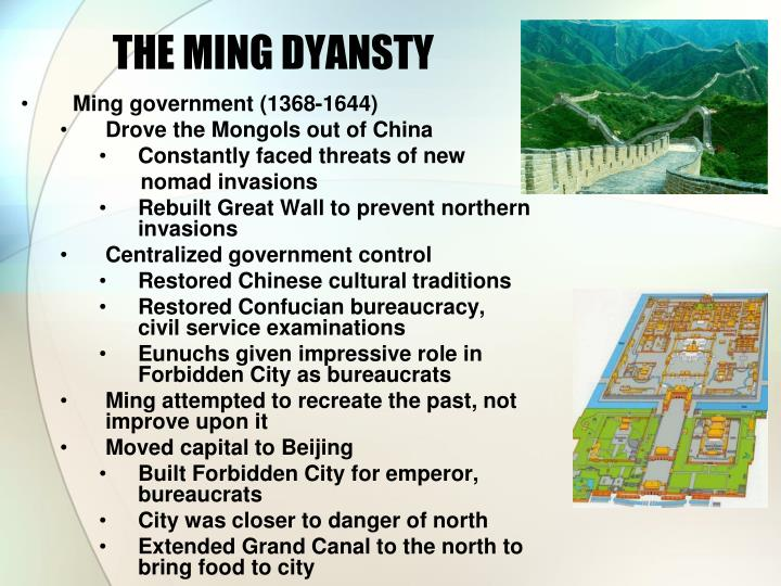 The ming dyansty