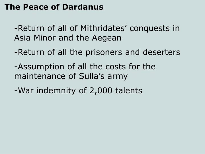 The Peace of Dardanus