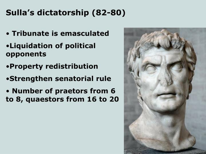 Sulla's dictatorship (82-80)