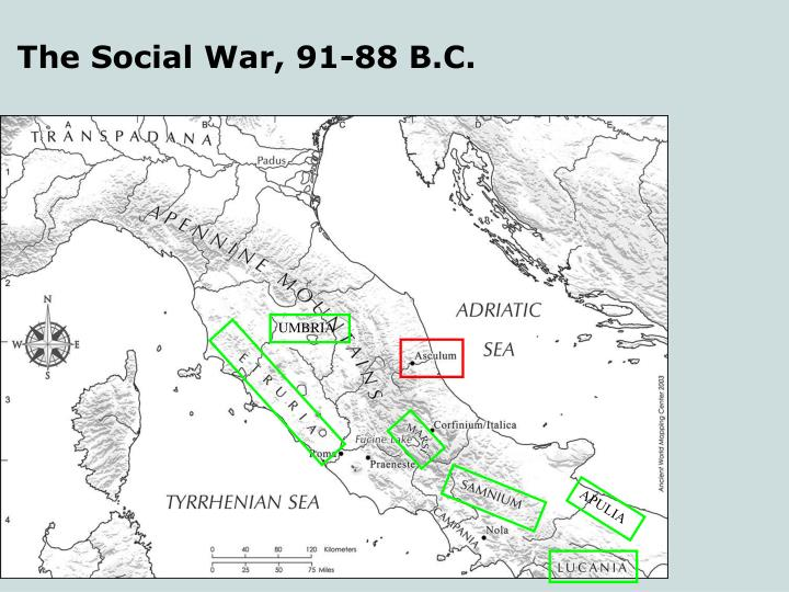 The Social War, 91-88 B.C.