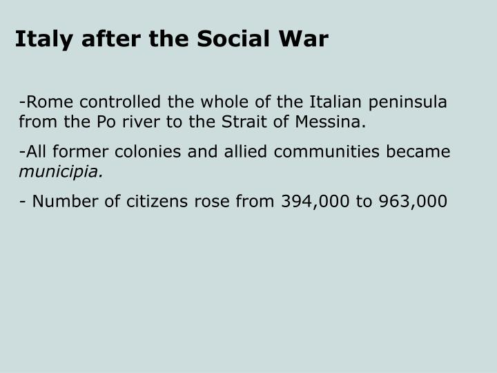 Italy after the Social War
