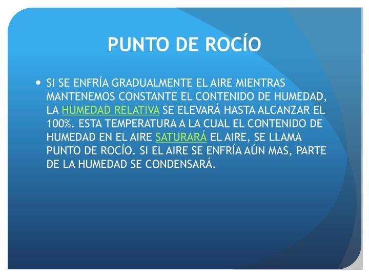 PUNTO DE ROCÍO