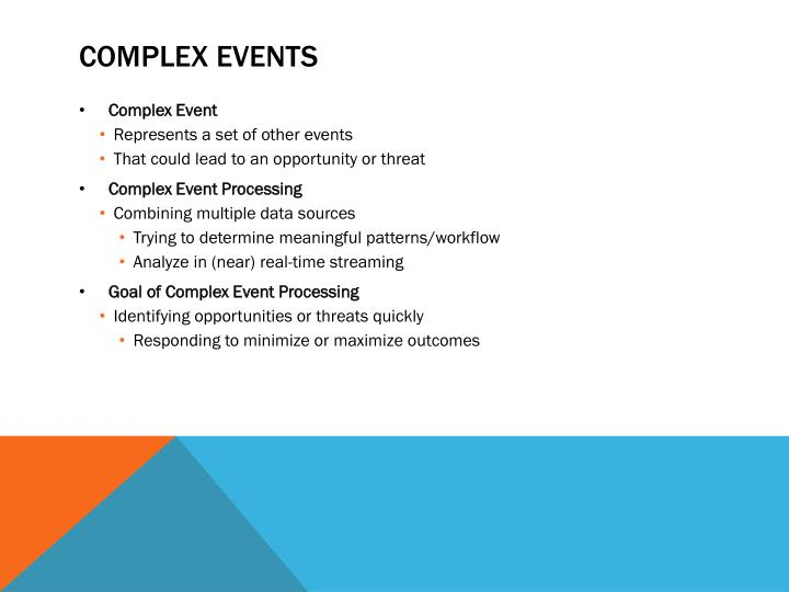 Complex Events