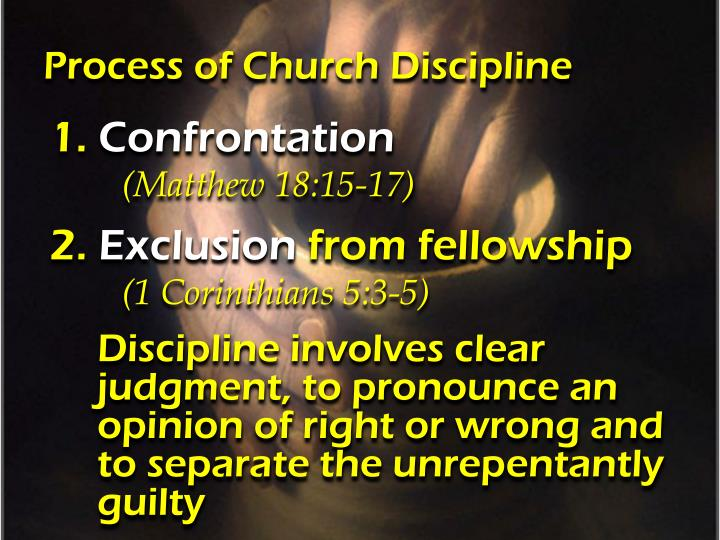 Process of Church Discipline
