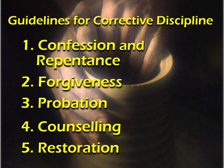 Guidelines for Corrective Discipline