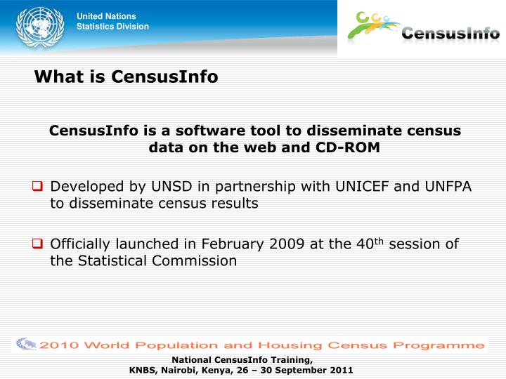What is censusinfo