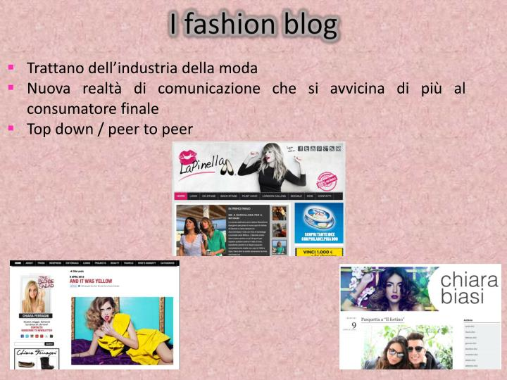 I fashion blog