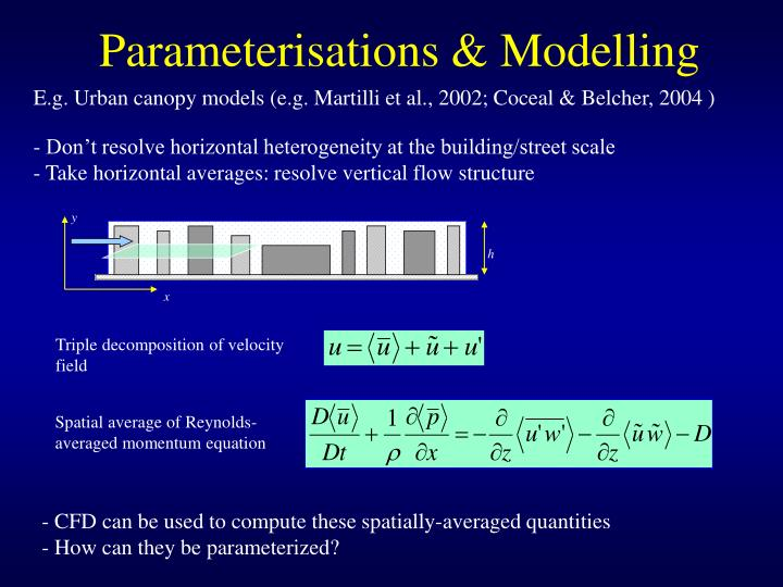 Parameterisations modelling