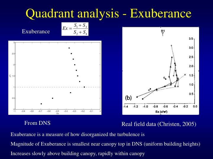 Quadrant analysis - Exuberance