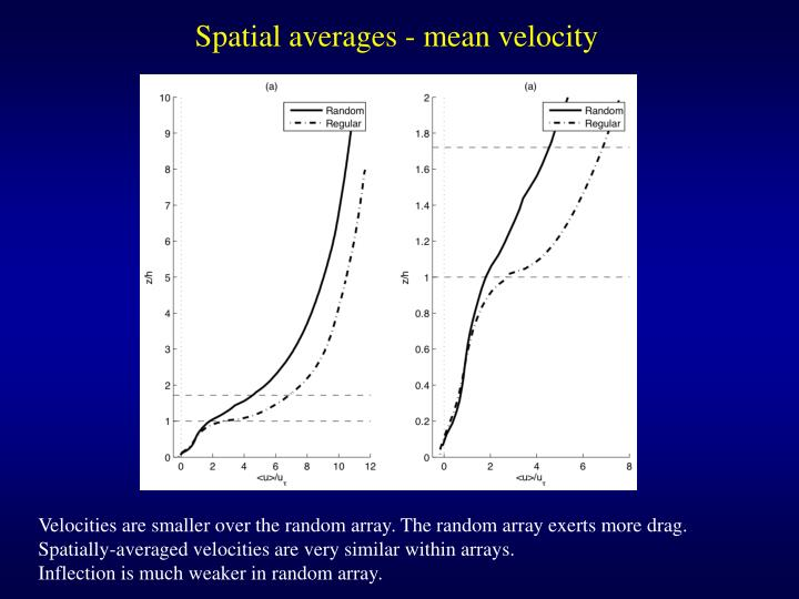 Spatial averages - mean velocity