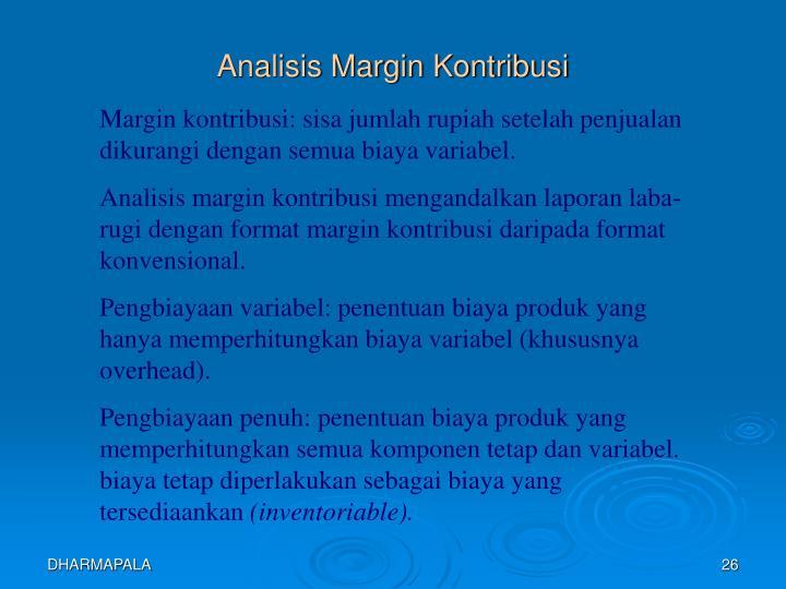 Analisis Margin Kontribusi