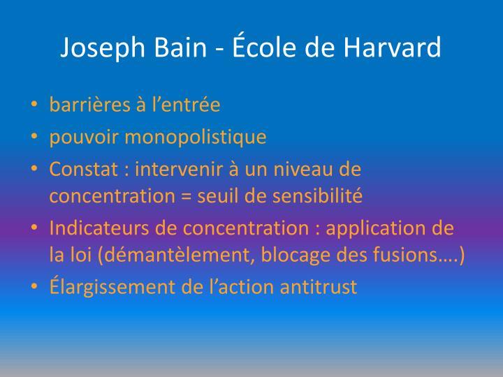 Joseph Bain - École de Harvard