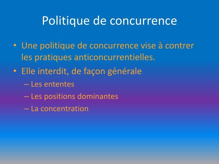 Politique de concurrence