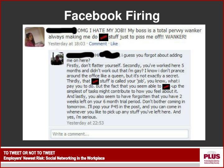 Facebook Firing