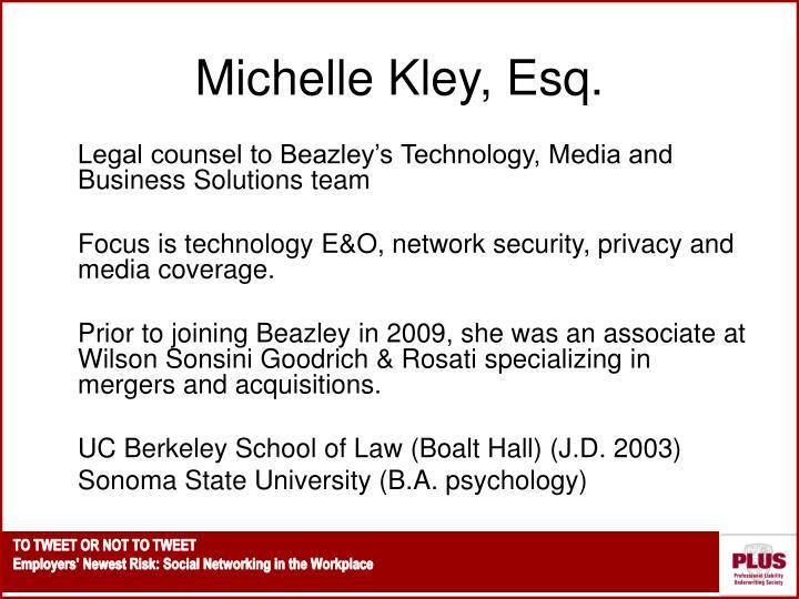 Michelle Kley, Esq.
