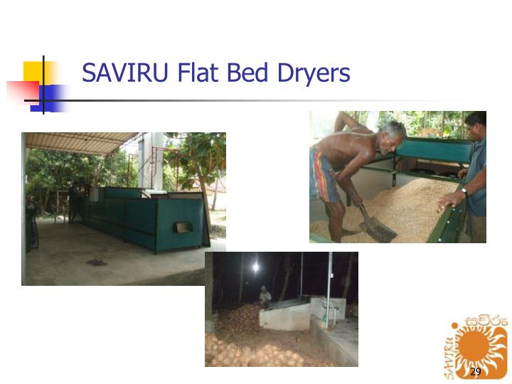 SAVIRU Flat Bed Dryers