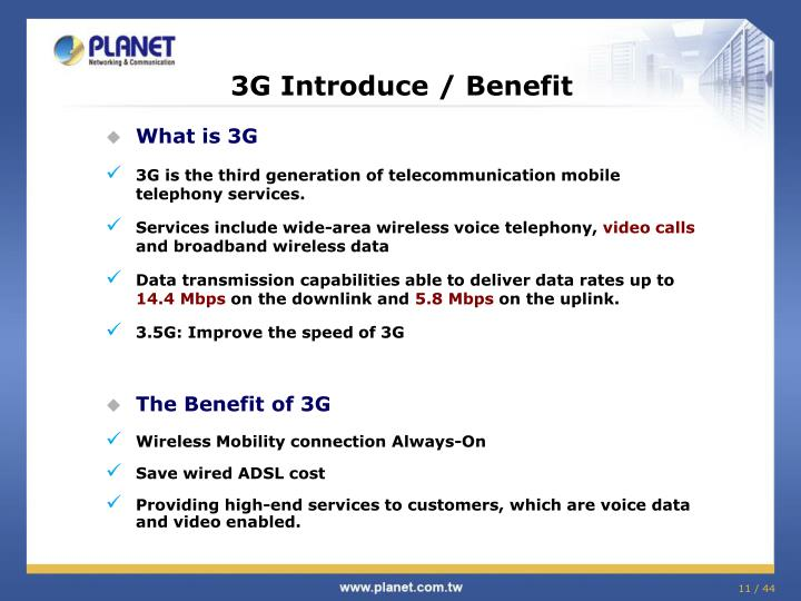 3G Introduce / Benefit