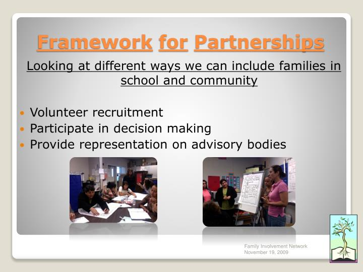 Looking at different ways we can include families in school and community