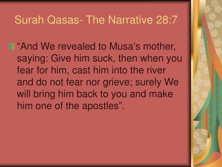 Surah Qasas- The Narrative 28:7