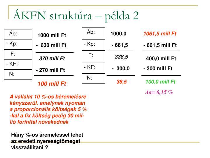 ÁKFN struktúra – példa 2
