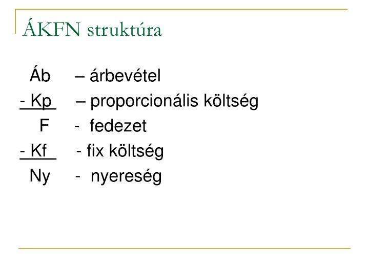 ÁKFN struktúra