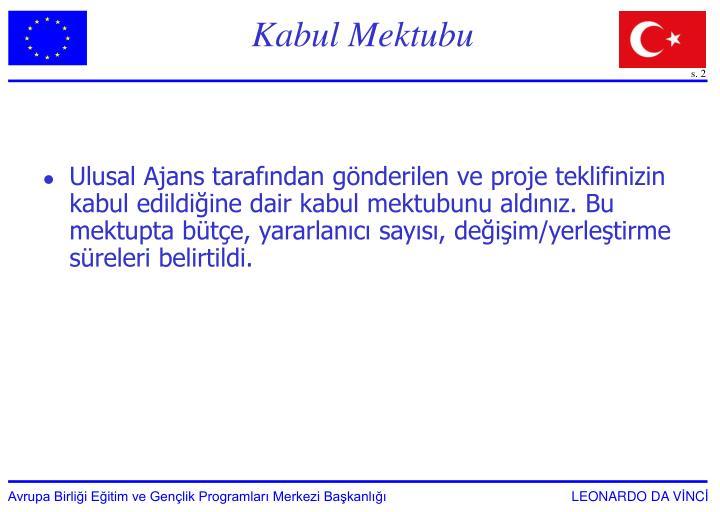 Kabul Mektubu