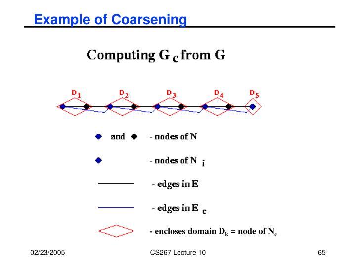 Example of Coarsening