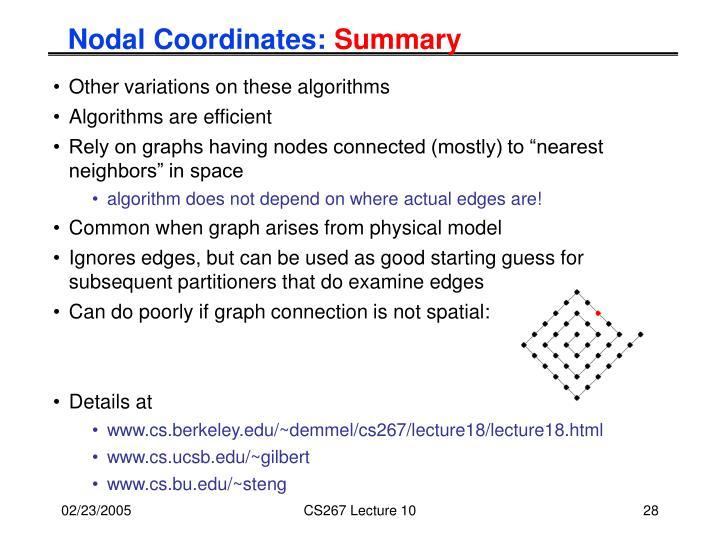 Nodal Coordinates: