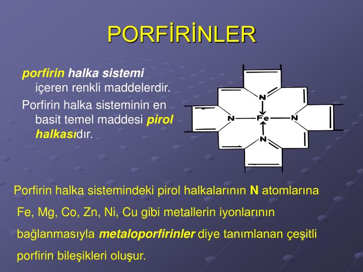 PORFİRİNLER