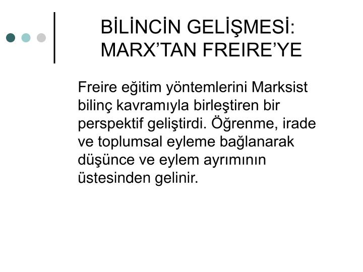 BLNCN GELMES: MARXTAN FREIREYE