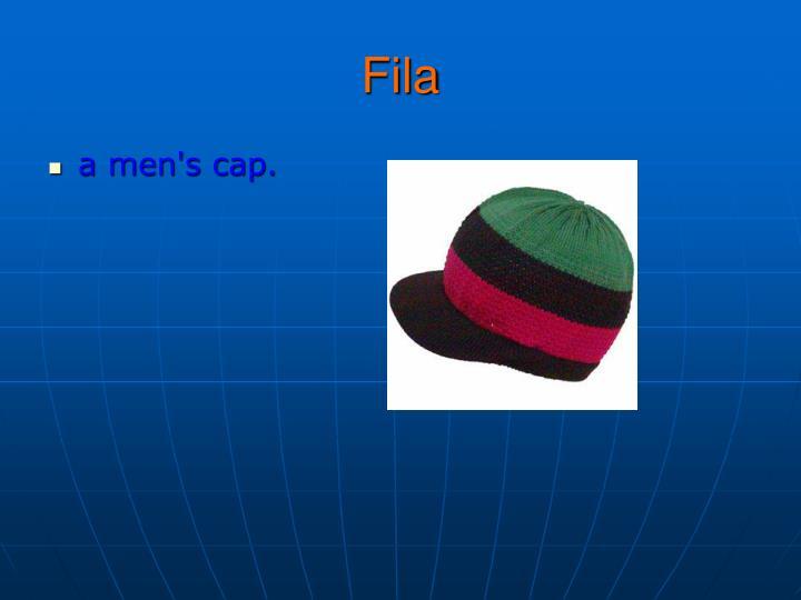 a men's cap.