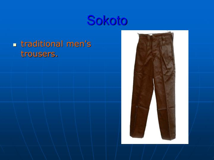 traditional men's trousers.