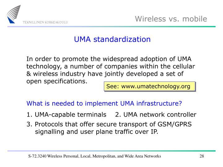 UMA standardization