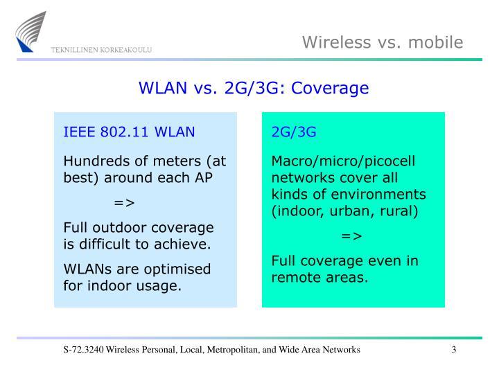 WLAN vs. 2G/3G:
