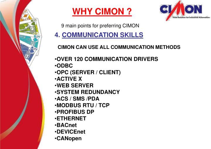 WHY CIMON ?