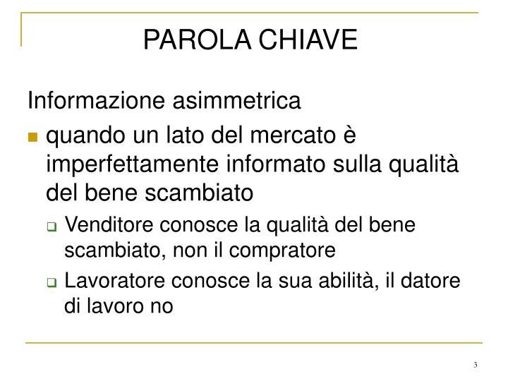 PAROLA CHIAVE