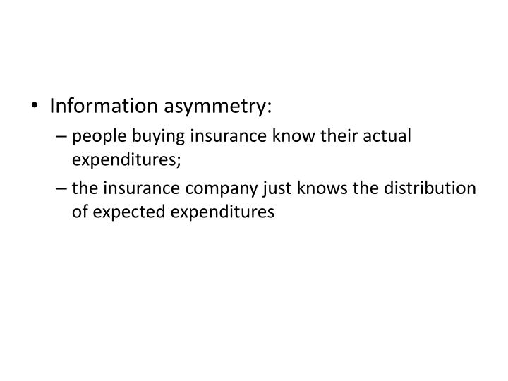 Information asymmetry: