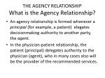 the agency relationship what is the agency relationship