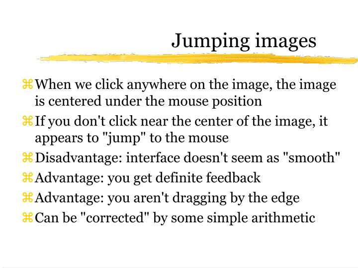 Jumping images