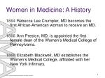 women in medicine a history1
