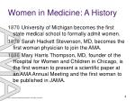 women in medicine a history2